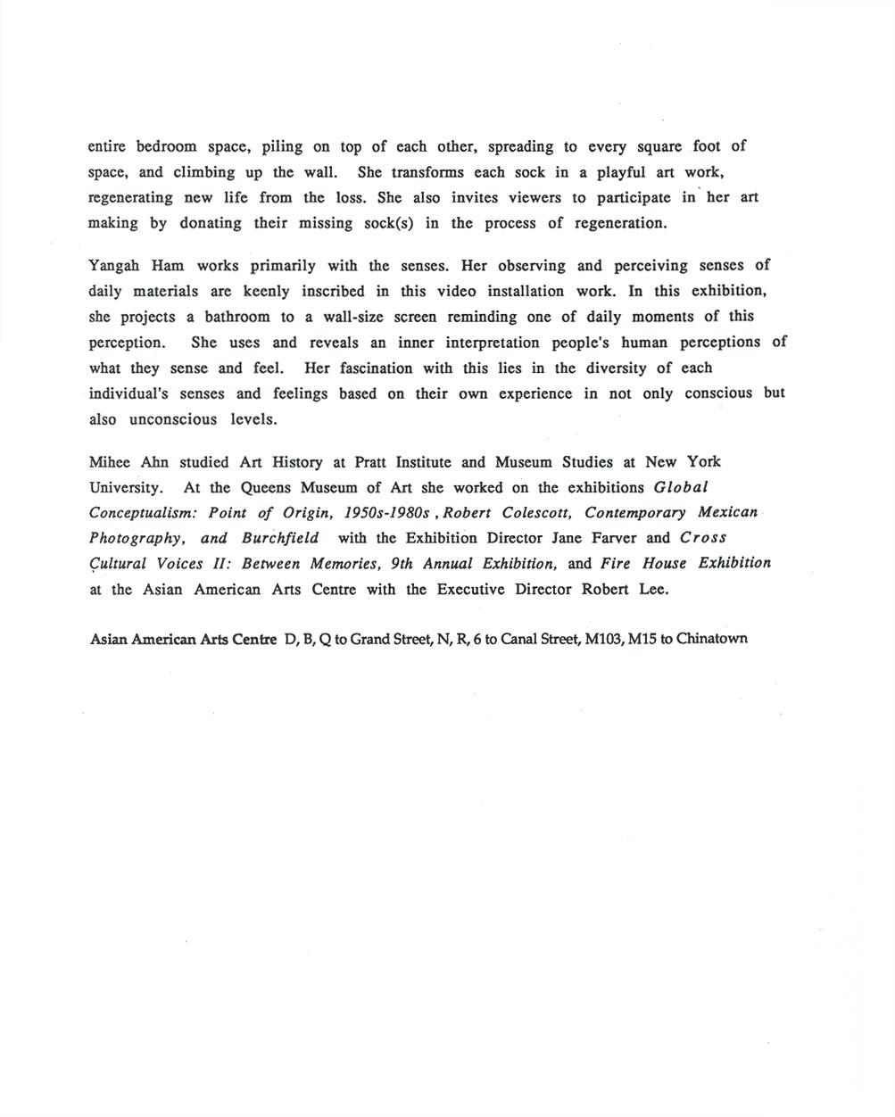 apt #3F, press release, pg 2