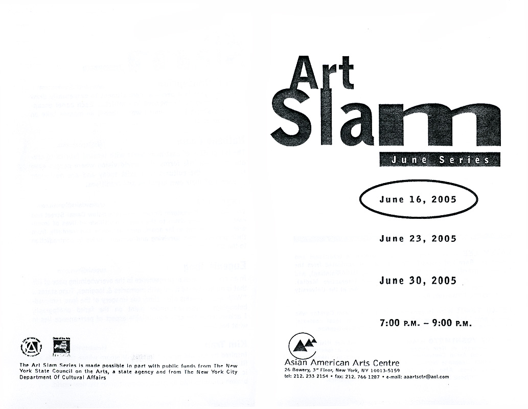 Art Slam: June Series, flyer, pg 1