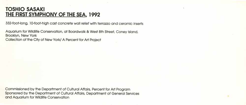 The First Symphony of the Sea, flyer, pg 2