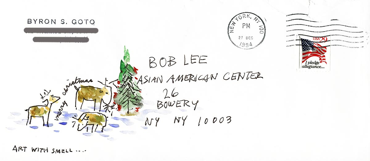 Byron Goto's greeting letter, envelope