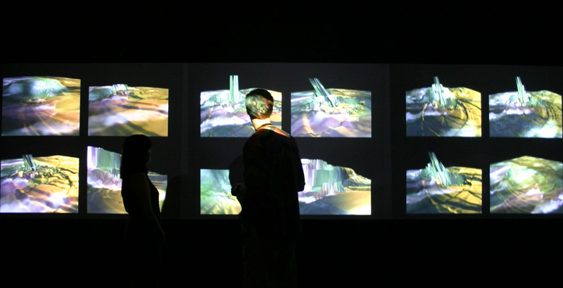 Installation view of Discrete Terrain: Windows on Five Emotions