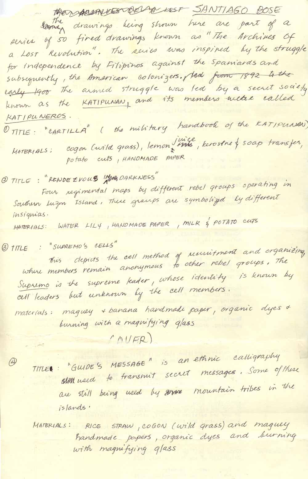 Notes on Archives of a Lost Revolution