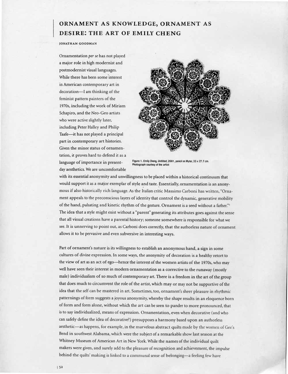 Ornament as Knowledge, pg 1