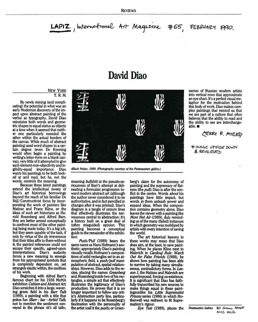 David Diao, review