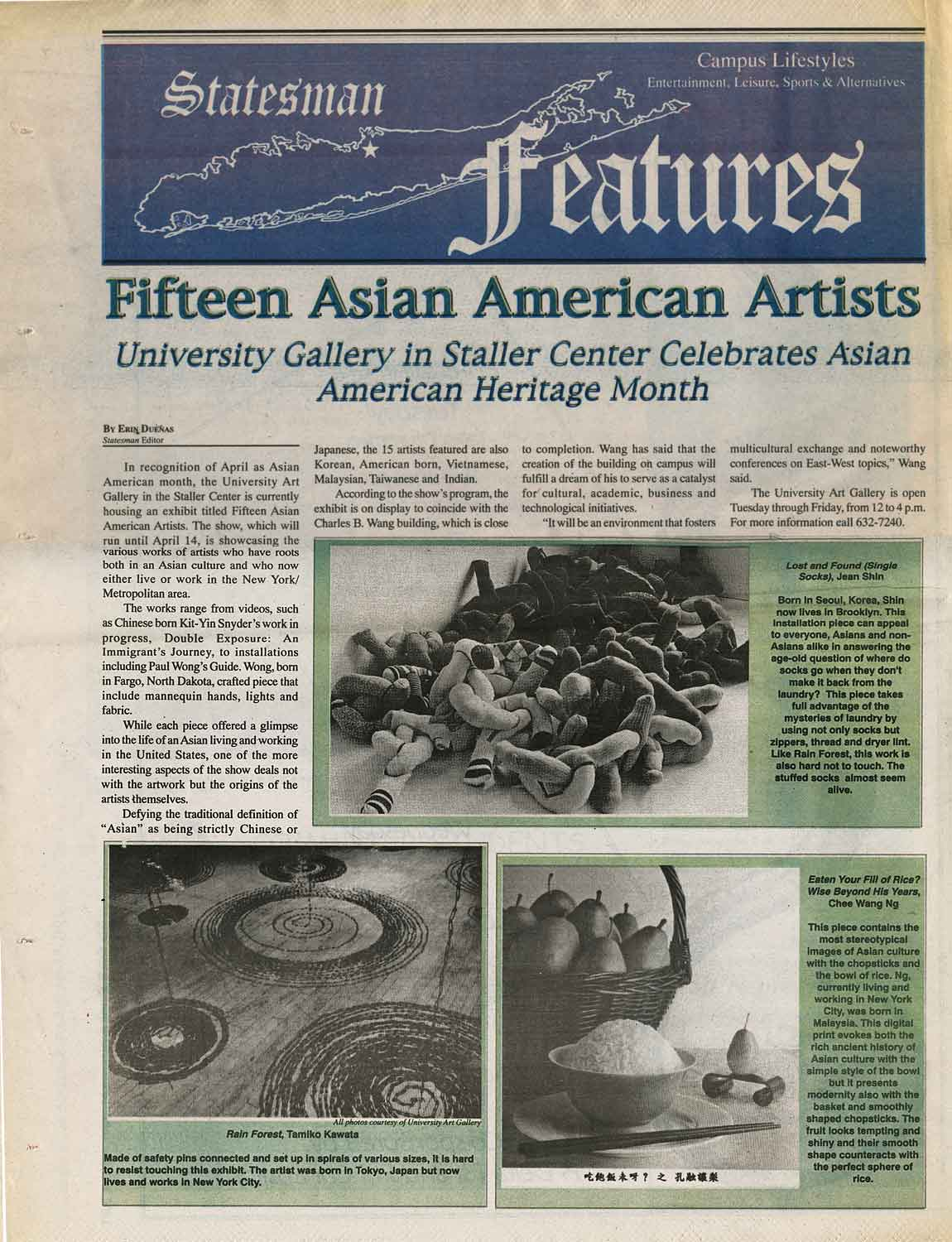 Fifteen Asian American Artists, article