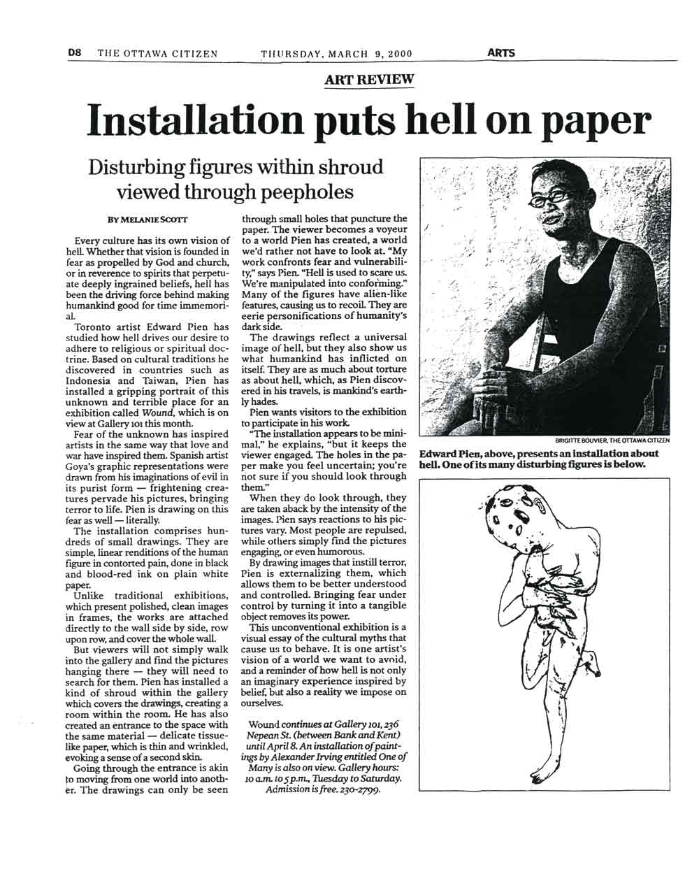 Installation Puts Hell on Paper