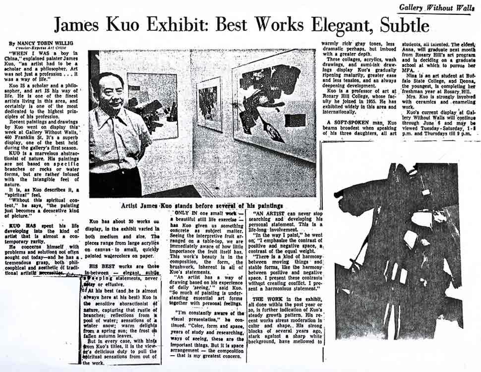 ames Kuo Exhibition: Best Works Elegant, Subtle, article