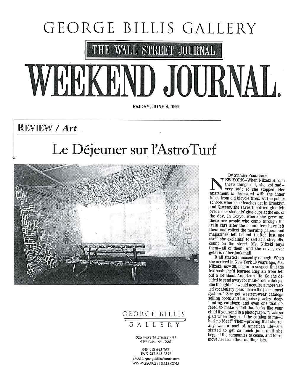 Le Déjeuner sur l'Astro Turf, article, pg 1