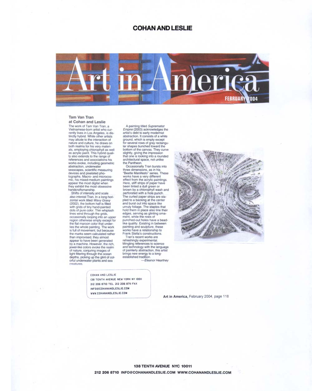 Art in American review