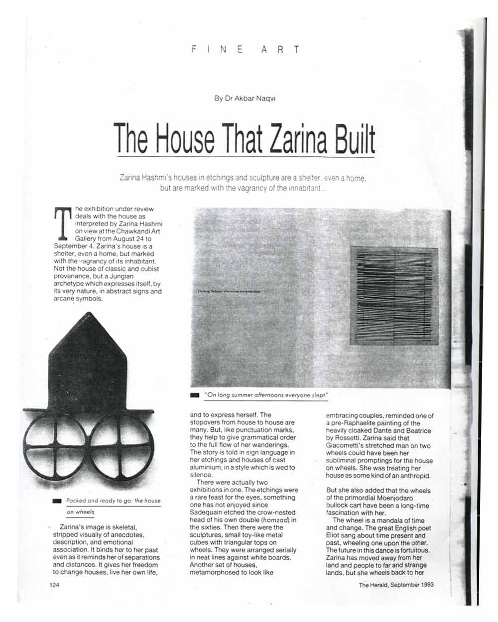 The House That Zarina Built, pg 1