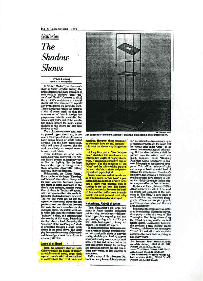 "Review ""The Shadow Shows"" by Lee Fleming in Washington Post"
