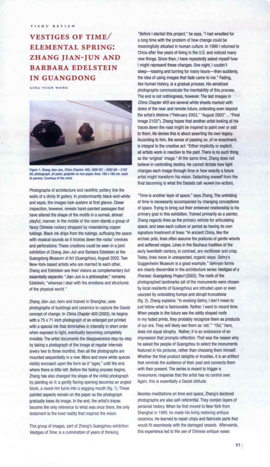 Vestiges of Time / Elemental Spring: Zhang Jian-Jun and Barbara Edelstein in Guangdong, review, pg 1