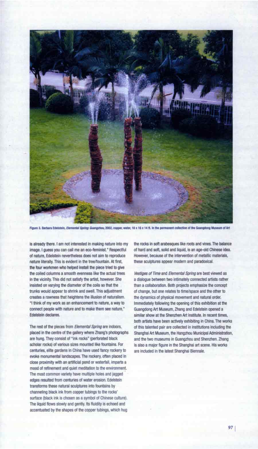 Vestiges of Time / Elemental Spring: Zhang Jian-Jun and Barbara Edelstein in Guangdong, review, pg 3