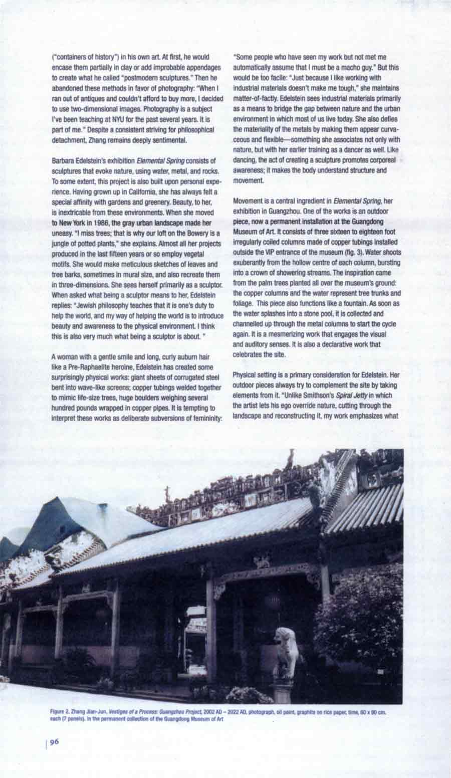 Vestiges of Time / Elemental Spring: Zhang Jian-Jun and Barbara Edelstein in Guangdong, review, pg 2