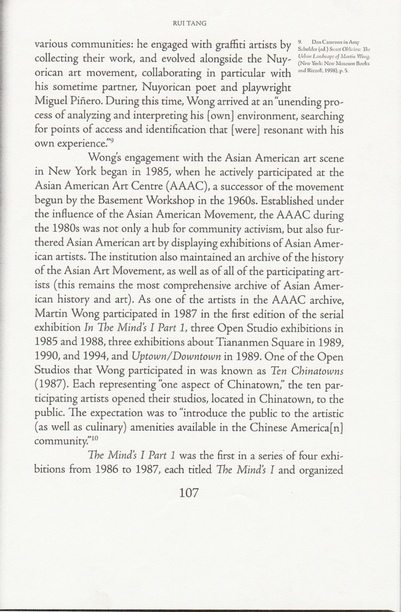 """""""The Dynamic: Martin Wong and the Asian American Community"""", from My Trip to America by Martin Wong"""
